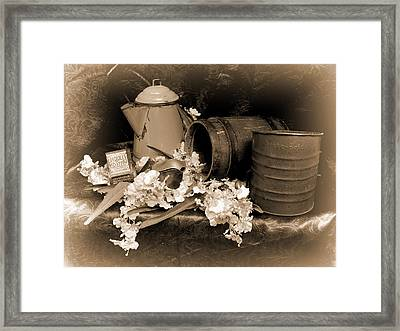Country Kitchen 3 Framed Print by Pamela Walton