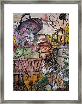 Country Kitchen Framed Print by Laneea Tolley