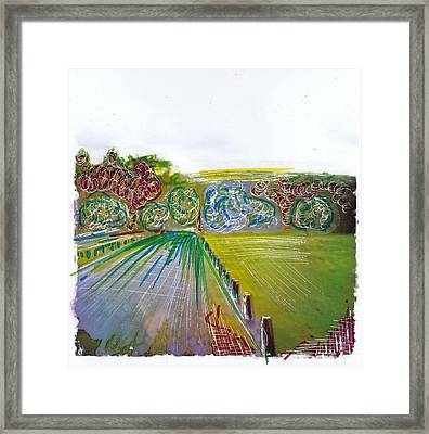 Country Lane 3 Framed Print by Nyree Goad