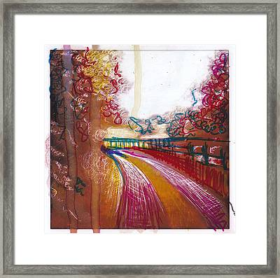 Country Lane Framed Print by Nyree Goad