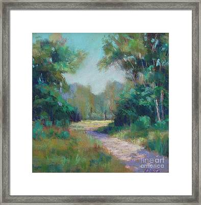 Country Lane Framed Print by Virginia Dauth