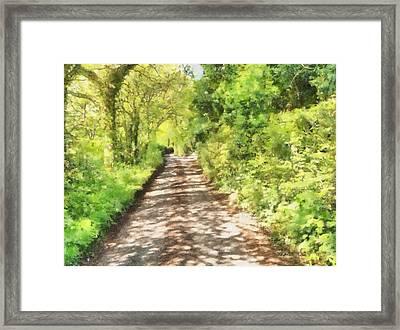 Country Lane Watercolour Framed Print by Roy Pedersen