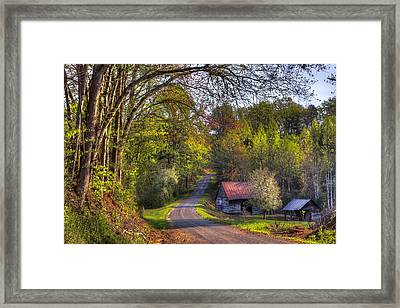 Country Lanes Framed Print by Debra and Dave Vanderlaan