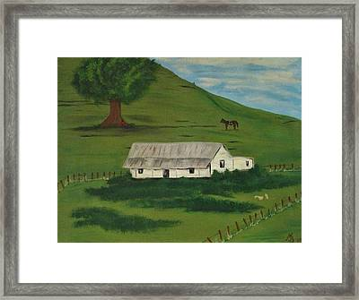 Country Life Framed Print by Melanie Blankenship
