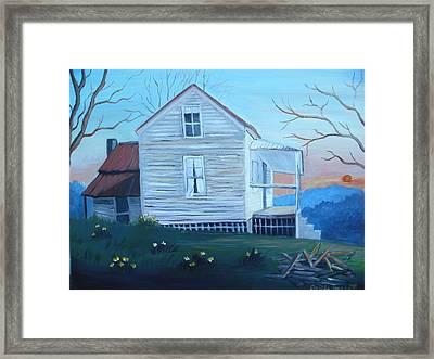 Country Living Framed Print by Glenda Barrett