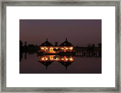 Country Marina Framed Print by Leslie Kirk