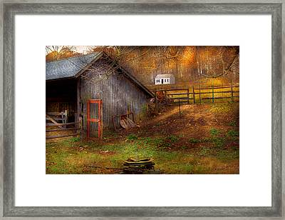 Country - Morristown Nj - Rural Refinement Framed Print by Mike Savad