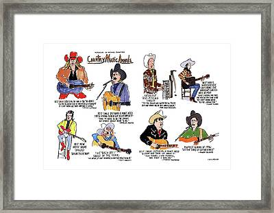 Country Music Awards Framed Print by Michael Crawford