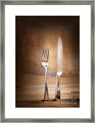Country Place Setting. Framed Print by Mythja  Photography