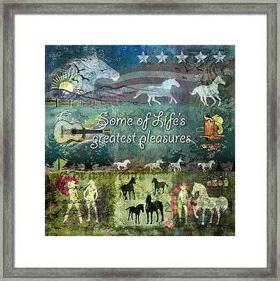 Country Pleasures Framed Print