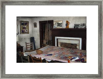 Country Quilting Ca. 1930s Framed Print