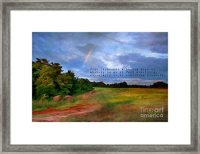 Country Rainbow Framed Print by Darren Fisher