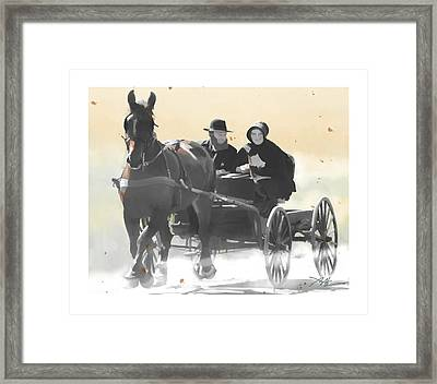 Framed Print featuring the painting Country Ride by Bob Salo