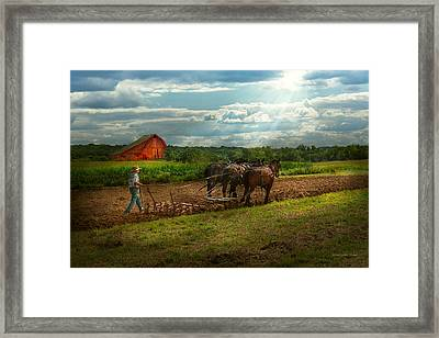 Country - Ringoes Nj - Preparing For Crops Framed Print