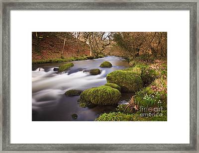 Country River Scene Wales Framed Print by Pearl Bucknall
