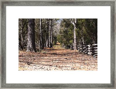 Country Road Framed Print by Arthur Warlick