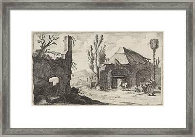 Country Road At A Ruin And An Inn, Gillis Van Scheyndel Framed Print by Gillis Van Scheyndel (i)