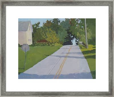 Country Road Framed Print by Bill Tomsa