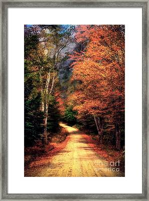 Country Road Framed Print by Brenda Giasson