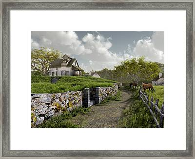 Country Road Framed Print by Cynthia Decker