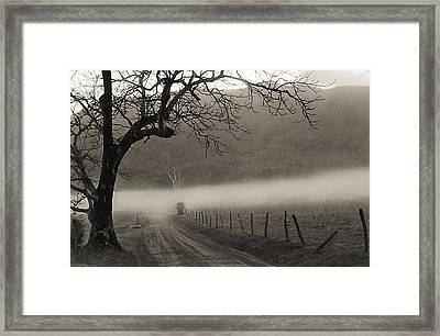 Country Road Framed Print by Elvira Butler