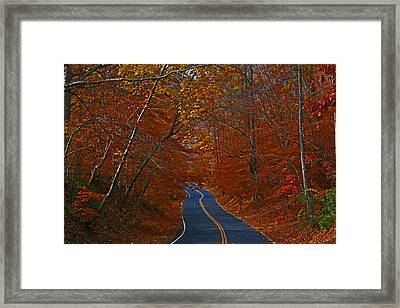 Framed Print featuring the photograph Country Road by Andy Lawless