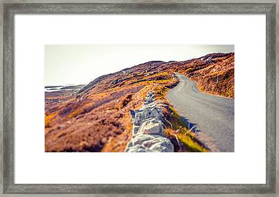 Country Road In Autumn Framed Print by Moreiso