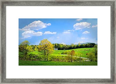 Country Road In Blue Ridge Framed Print