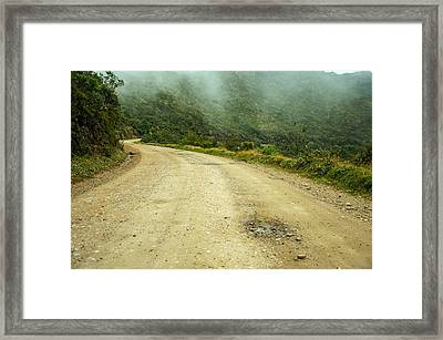 Country Road In Colombia Framed Print by Jess Kraft