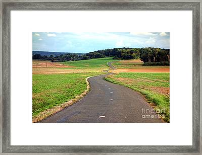 Country Road In France Framed Print by Olivier Le Queinec