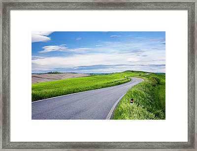 Country Road Framed Print by Jorg Greuel