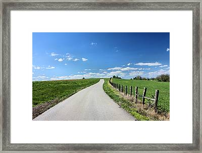 Country Road Framed Print by Kristin Elmquist