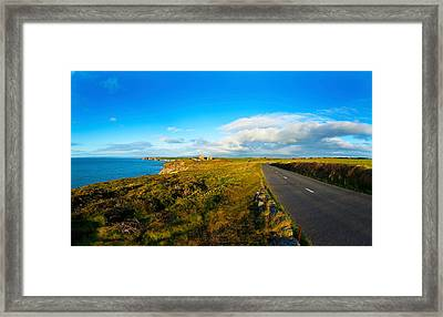 Country Road Leading To The Old Copper Framed Print by Panoramic Images