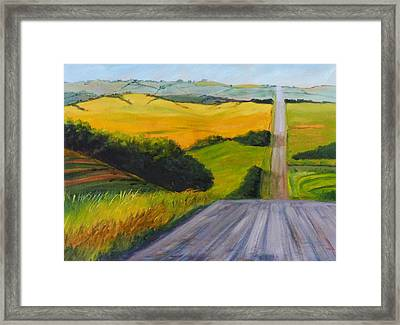 Country Road Framed Print by Nancy Merkle