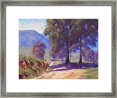Country Road Oberon Framed Print by Graham Gercken