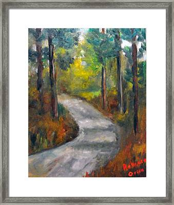Country Road Framed Print by Rebecca Grice