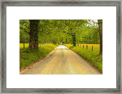Country Road Framed Print by Robert Hebert