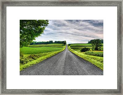 Country Road Framed Print by Steven Ainsworth