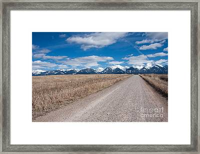 Framed Print featuring the photograph Country Road Take Me Home by Katie LaSalle-Lowery