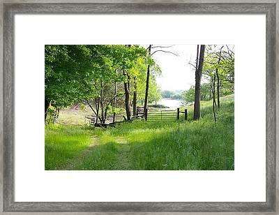 Country Road To Home Framed Print by Elizabeth King