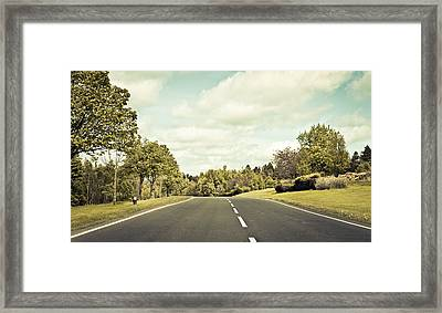 Country Road Framed Print by Tom Gowanlock