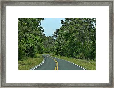 Framed Print featuring the photograph Country Road by Victor Montgomery