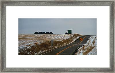 Country Roads In Holmes County Framed Print
