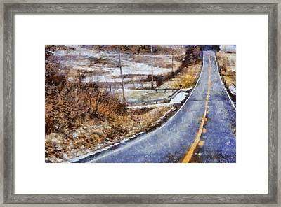 Country Roads In Ohio Framed Print by Dan Sproul