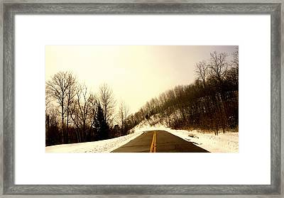 Country Roads Take Me Home Framed Print by Danielle  Broussard