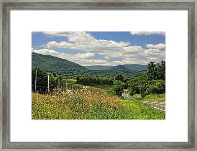 Country Roads Take Me Home Framed Print by Lara Ellis