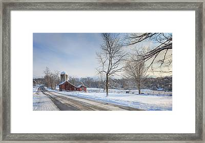 Country Roads Winter Framed Print by Bill Wakeley