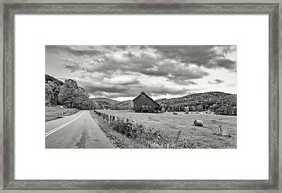 Country Road...west Virginia Bw Framed Print by Steve Harrington