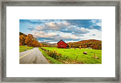 Country Road...west Virginia Oil Framed Print