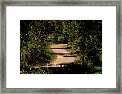 Country S Curve Framed Print
